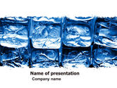 Drinking alcohol: Cubes of Ice PowerPoint Template #05937