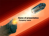 Military: Pistol PowerPoint Template #05986
