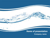 Drinking alcohol: Water Splash PowerPoint Template #06280