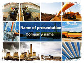 Gas+furnace: Pipeline PowerPoint Template #06343