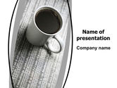 Drinking alcohol: Morning Coffee Cup PowerPoint Template #06498