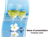 Drinking alcohol: Two Wineglasses PowerPoint Template #06540