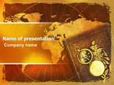 Mariner's+compass: Historical Exploration PowerPoint Template #06590