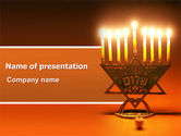 Northern lights: Menorah PowerPoint Template #06791