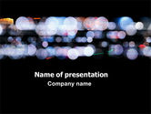 Northern lights: Bokeh Effect PowerPoint Template #06811