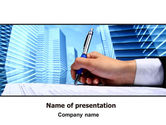 Business: Free Signing Document PowerPoint Template #07049