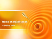 Target+setting: Reaching the Target PowerPoint Template #07129