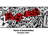 Business: Business Typography PowerPoint Template #07435