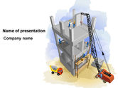 Construction: Building Site PowerPoint Template #07639