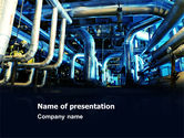 Utilities/Industrial: Industrial Pipelines PowerPoint Template #07655