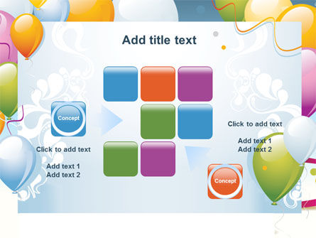 greeting card powerpoint template backgrounds 07775