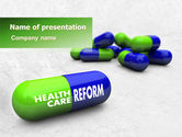 Medical: Health Care Reform PowerPoint Template #07962