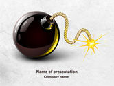 Consulting: Free Bomb With Burning Wick PowerPoint Template #07973
