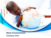 Education & Training: School Study In Africa PowerPoint Template #08063