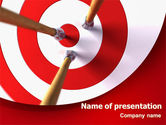 Target+setting: Red Target PowerPoint Template #08116