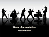 Musical+instruments+templates: Music Band PowerPoint Template #08218