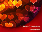 Northern lights: Heart Shaped Lights PowerPoint Template #08324