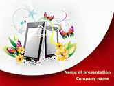 Cliparts-features: Smartphones PowerPoint Template #08359
