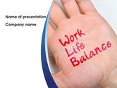 Target+setting: Work-Life Balance PowerPoint Template #08411