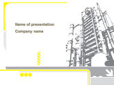 Utilities/Industrial: Chemical Industry Rectification Column PowerPoint Template #08526
