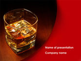 Drinking alcohol: Whiskey in Rock PowerPoint Template #08534