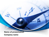 Business Concepts: Blue Compass PowerPoint Template #08568