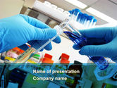 Technology and Science: Thin Laboratory Tests PowerPoint Template #08586