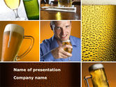 Drinking alcohol: Beer Collage PowerPoint Template #08604