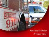 Medical: Emergency 911 PowerPoint Template #08652