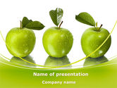 Agriculture: Green Apples PowerPoint Template #09060