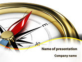 Business Concepts: Compass in Business Consulting PowerPoint Template #09155