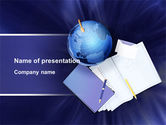 Study+abroad: Study of Geography PowerPoint Template #09281