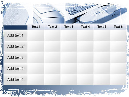 multimedia devices powerpoint template backgrounds