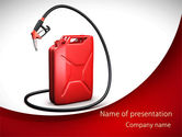 Gas+furnace: Gasoline Jerrycan PowerPoint Template #09349