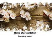 Nature & Environment: Spring Blossom Apple Tree PowerPoint Template #09369