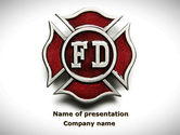 Legal: Fire Department Badge PowerPoint Template #09447
