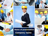 Construction: Architectural Studio PowerPoint Template #09544