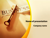 Business: Key Of Business PowerPoint Template #09570