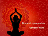 Health and Recreation: Meditation Yoga PowerPoint Template #09595