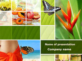 Fun: Exotic Island Vacation PowerPoint Template #09627