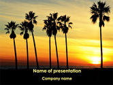 Fun: Sunset On The Tropic Island PowerPoint Template #09639