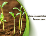 Agriculture: Young Shoots PowerPoint Template #09650