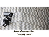 Consulting: Surveillance Camera PowerPoint Template #09671