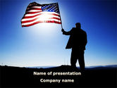 Flags/International: Flag of the USA PowerPoint Template #09787