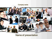 Business: Our Team PowerPoint Template #09982