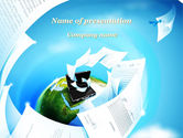 Business: Flying Papers PowerPoint Template #09989