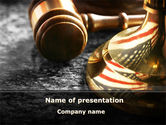 Legal: American Justice PowerPoint Template #10041