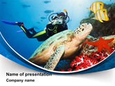 Fun: Diving Photo Shooting PowerPoint Template #10048