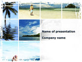Health and Recreation: Tropical Island Collage PowerPoint Template #10073
