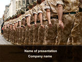 Military: Soldiers March PowerPoint Template #10365
